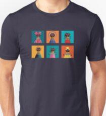 Six cute colorful african dolls Unisex T-Shirt
