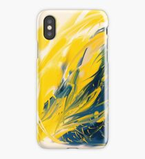 Abstract - Yellow & Blue iPhone Case