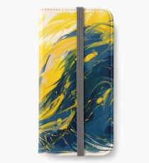Abstract - Yellow & Blue iPhone Wallet/Case/Skin