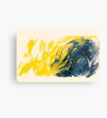 Abstract - Yellow & Blue Metal Print