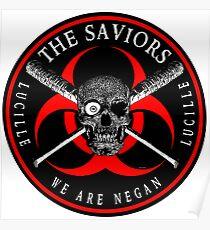 Biohazard The Saviors We Are Negan Ring Patch RL Poster