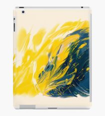 Abstract - Yellow & Blue iPad Case/Skin