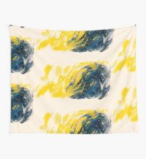 Abstract - Yellow & Blue Wall Tapestry