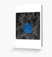 Drift King Blue Carbon Camouflage design  Greeting Card