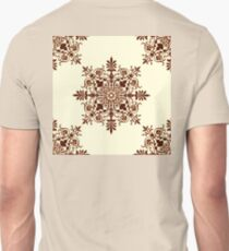 Victorian, Tile, Ornament, Design, cream and brown T-Shirt