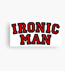 Ironic Man Canvas Print