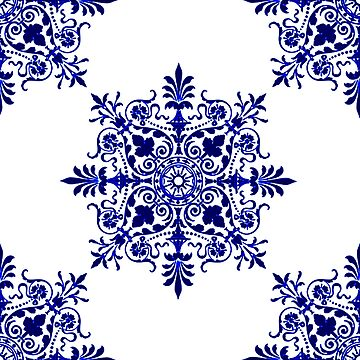 Victorian,  Victorians, Tile, Ornament, Design, Blue, Delft by TOMSREDBUBBLE