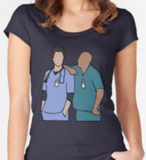 JD and Turk Scrubs Women's Fitted Scoop T-Shirt