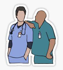JD and Turk Scrubs Sticker