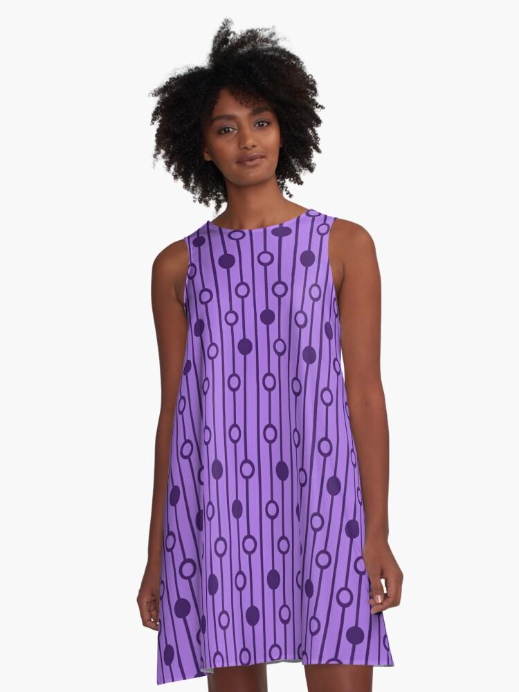 Purple Equation A-Line Dress Front