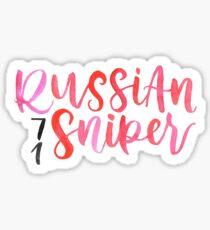 Geno Russian Sniper Sticker