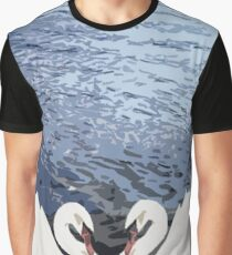 Two Swans Graphic T-Shirt