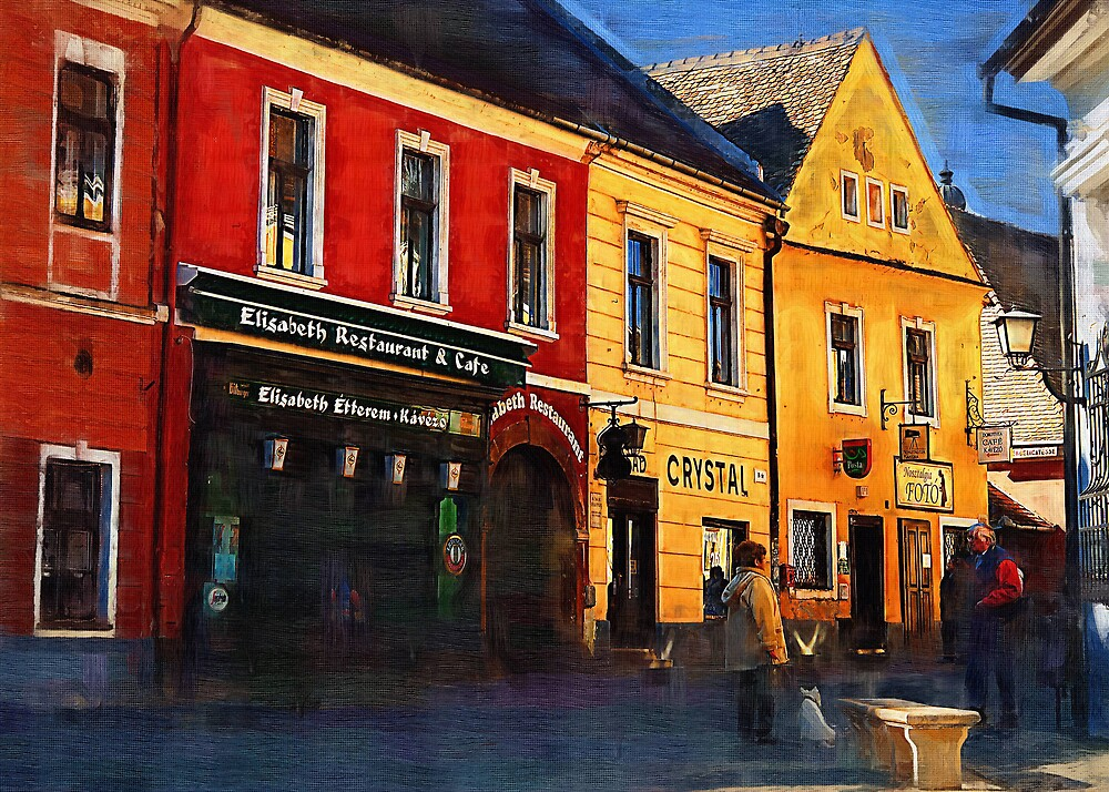 Old Town II by Mariann Kovats