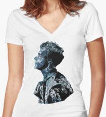 Harry Styles Shape Ocean silhouette Women's Fitted V-Neck T-Shirt