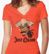 Jose Quavo Women's Fitted V-Neck T-Shirt
