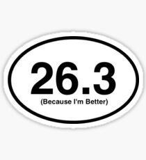 26.3 Marathon Sticker Sticker