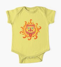 Summer shiny sun grinning and sticking tongue out One Piece - Short Sleeve