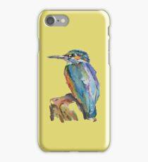 Stylised Pen & Ink Kingfisher iPhone Case/Skin