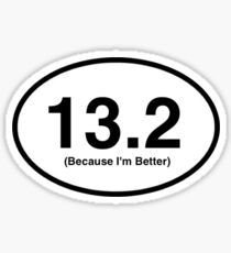 13.2 Marathon Sticker  Sticker