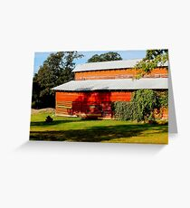 Shade at the Old Red Barn Greeting Card