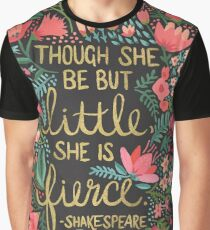 Little & Fierce on Charcoal Graphic T-Shirt