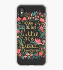 Little & Fierce auf Holzkohle iPhone-Hülle & Cover
