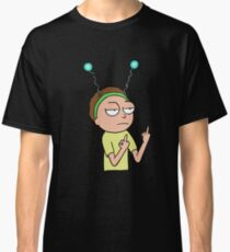 Rick and Morty-- Morty Middle Finger Classic T-Shirt