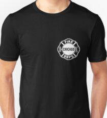 Chicago Fire Dept White Logo Unisex T-Shirt