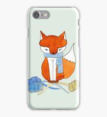 Orange Fox & Yarn iPhone Case/Skin