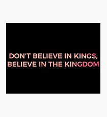 Don't Believe in Kings, Believe in the Kingdom - Chance the Rapper Photographic Print