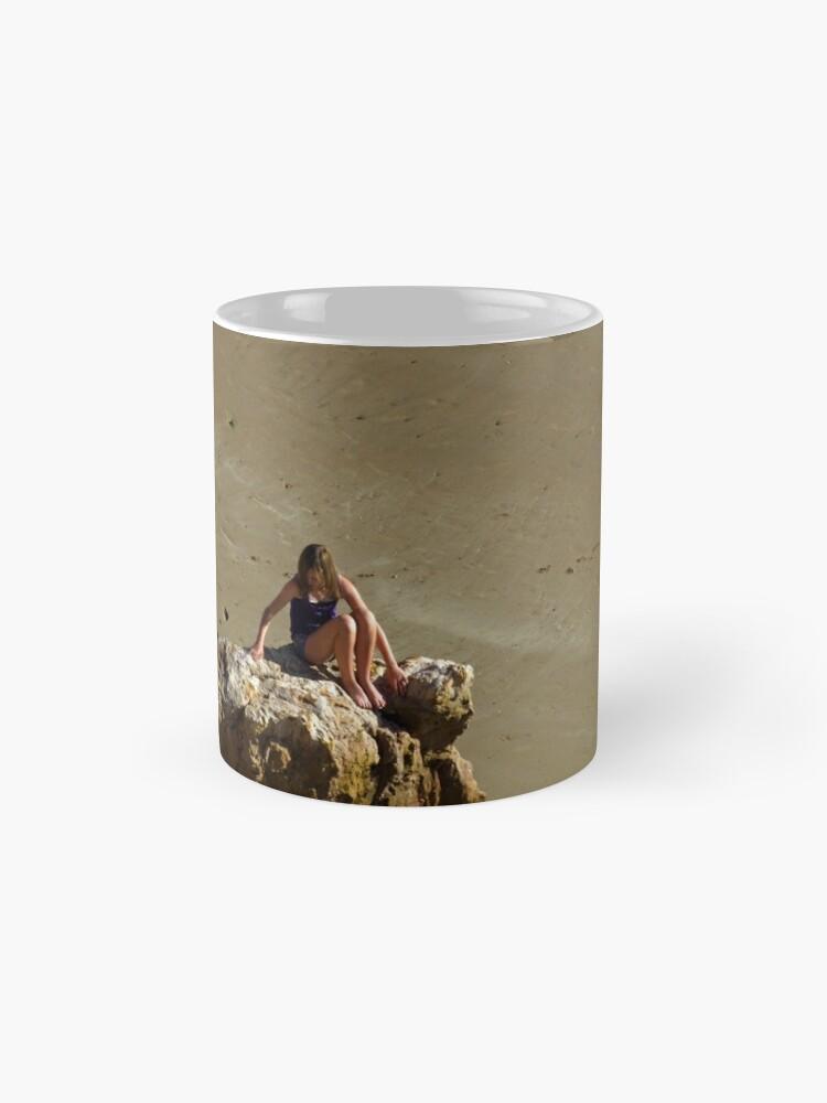 Alternate view of Girl On The Rocks, Compton Bay Mug