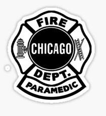 Chicago Fire Paramedic Black Logo  Sticker