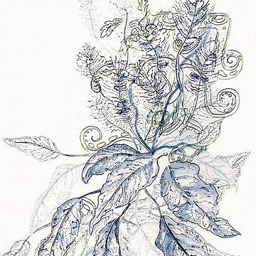 Mayan leaves/ Hojas Mayas by NataliaMotta