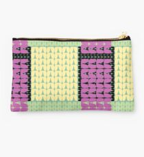 80's Stockinette Plaid Studio Pouch