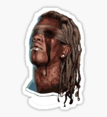 thugger baby rapper cartoon painting Sticker