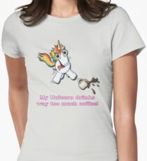 My Unicorn Drinks Way Too Much Coffee T-Shirt