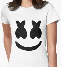Marshmello face Women's Fitted T-Shirt