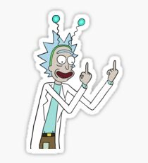 Rick and Morty-- Rick Finger Sticker