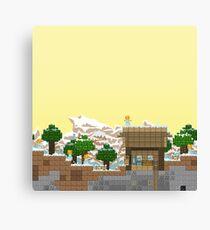 Video Game Platform Winter Piece Canvas Print