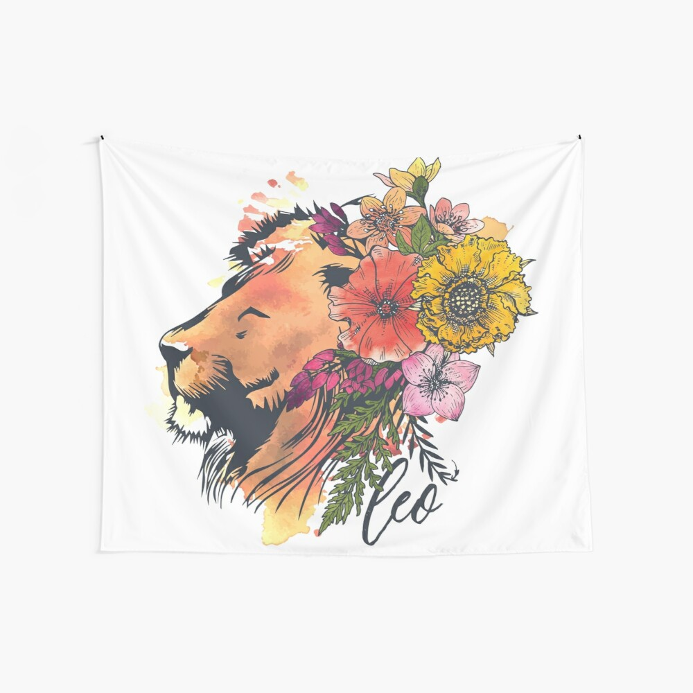 Leo Lion Wall Tapestry