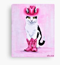 Purrdy in Pink Canvas Print