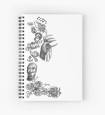 Lady Gaga Tattoos Spiral Notebook