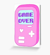 "Pastel ""Game Over"" Video Game Greeting Card"