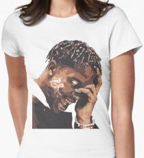 la flame travis rap Women's Fitted T-Shirt