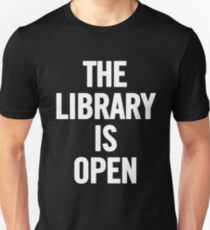 The Library Is Open (White) T-Shirt