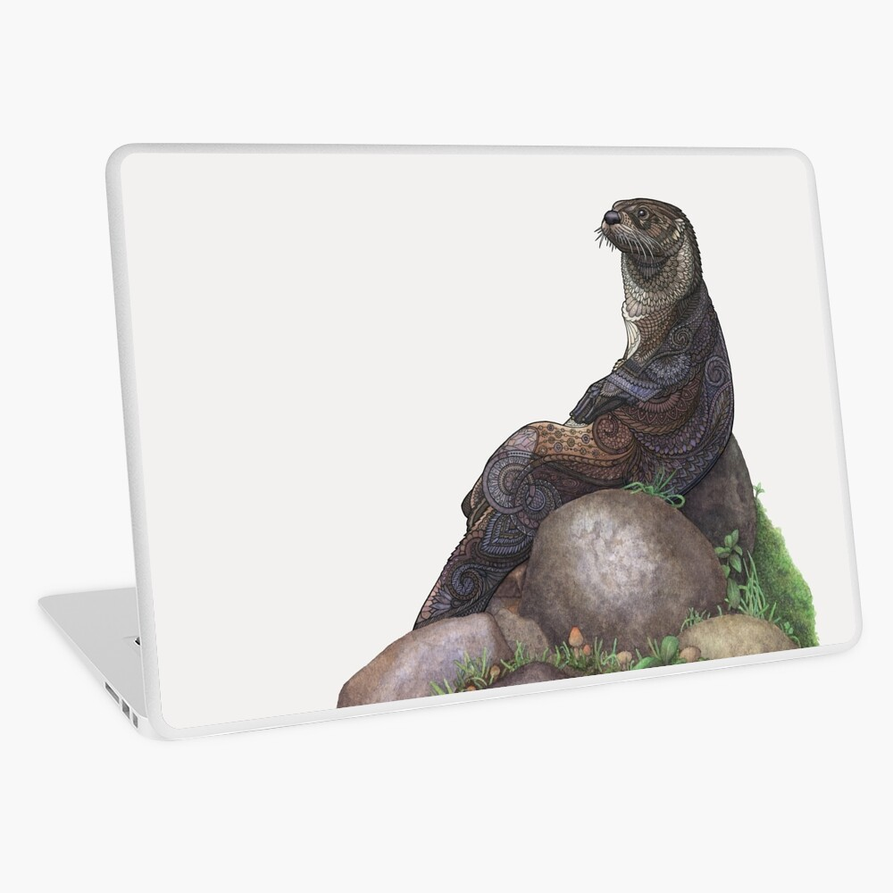 The Majestic Otter Laptop Skin