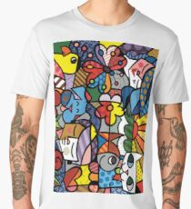 abstract collage Men's Premium T-Shirt