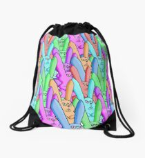 March of Lepus Iratus Drawstring Bag
