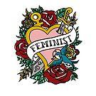 Feminist Tattoo Heart Feminism by AdrienneAllen
