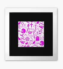 Buffy Symbology - Pink Framed Print